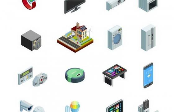 2.5D效果智能家居智能办公物品图片免扣素材
