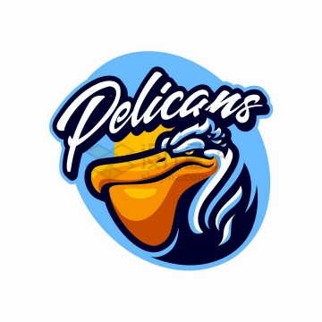 卡通鹈鹕游戏公司logo设计png图片免抠矢量素材