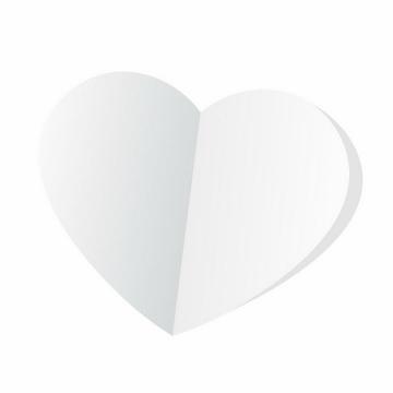 白色心形折纸png图片免抠eps矢量素材