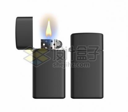 逼真的黑色打火机871684png矢量图片素材