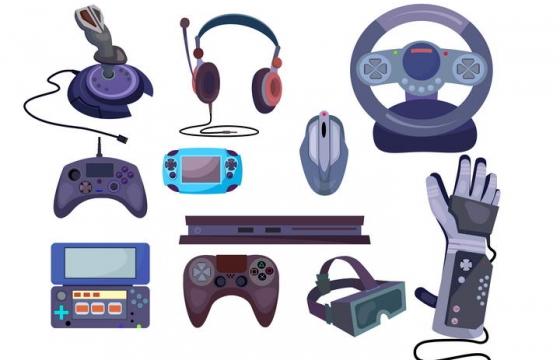 游戏手柄游戏方向盘等游戏控制器图片免抠素材