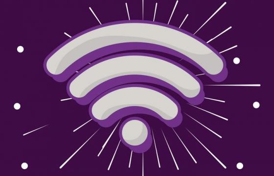 高光风格的WiFi无线信号符号免扣图片素材