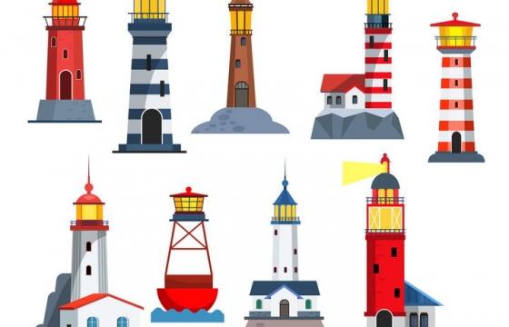 9款各式各样的灯塔图片免抠素材