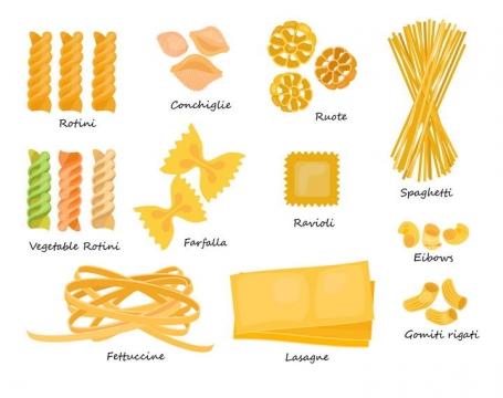 11款意大利面通心粉美食图片免抠素材