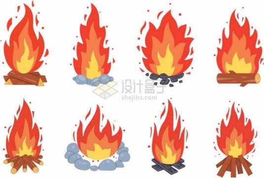 8款燃烧的篝火火焰火苗效果950617png图片素材