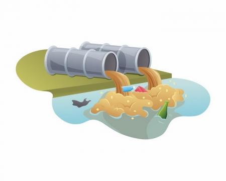 废水排污管环境污染png图片免抠矢量素材