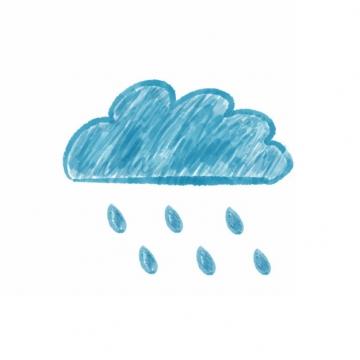 手绘涂鸦风格下雨的云朵乌云310769png图片素材