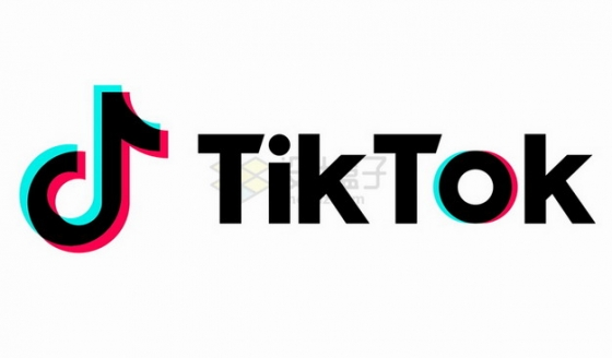 英文版抖音 Tik Tok APP logo标志png图片素材