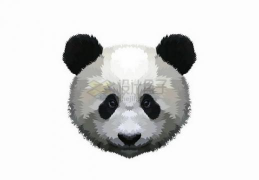 手绘风格大熊猫的头png图片免抠矢量素材