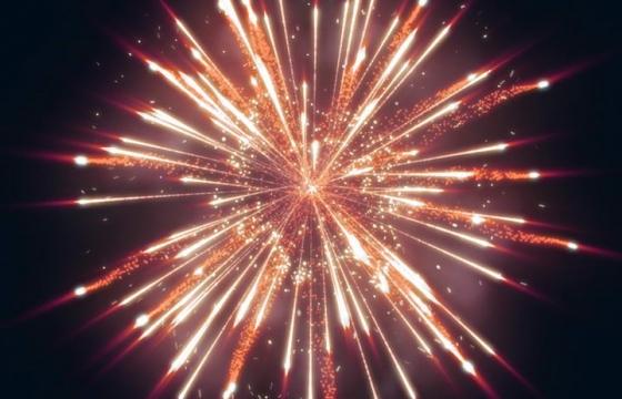 绚丽的爆炸礼花烟花效果图片免抠素材