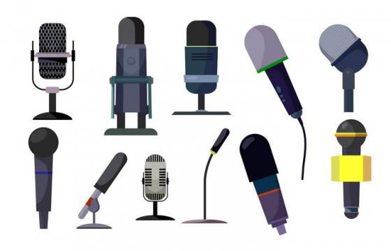 11款话筒麦克风录音设备图片免扣素材