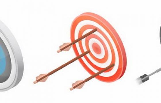 3款射箭的靶子靶心png图片免抠矢量素材