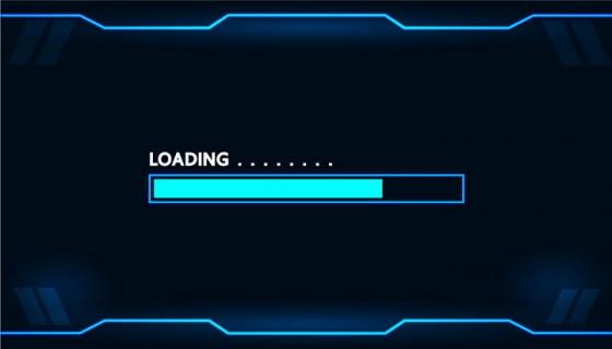 蓝色科幻风格等待界面loading设计png图片免抠eps矢量素材