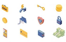 2.5D风格货币金融标志图标图片免抠素材