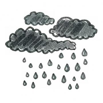 手绘涂鸦风风格下雨的云朵乌云密布417216png图片素材