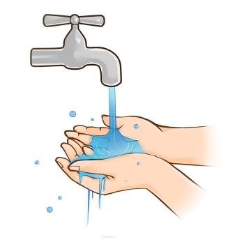 拧开水龙头洗手png图片免抠素材