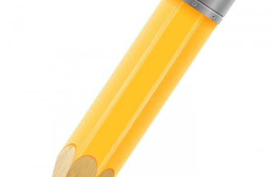逼真的卡通黄色铅笔画笔学习用品文具免抠矢量图片素材