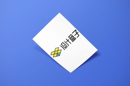 掀开的A4纸白纸展示样机图片设计模板素材