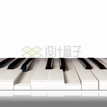 逼真的钢琴按键琴键png图片素材