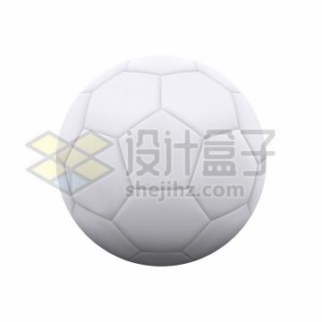 逼真的白色足球体育球类png图片免抠矢量素材