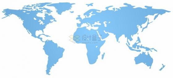 蓝色的世界地图图案798316png图片素材