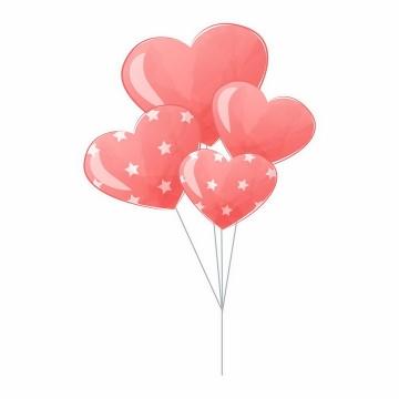 红心红色心形气球情人节装饰png图片免抠EPS矢量素材