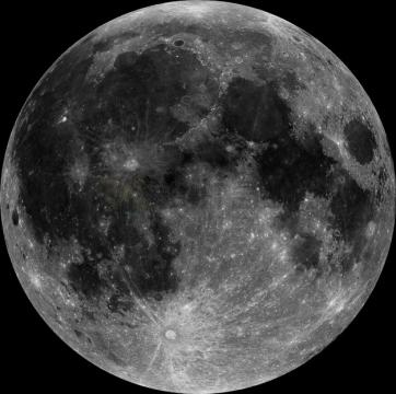 月球正面月海高清照片png图片素材