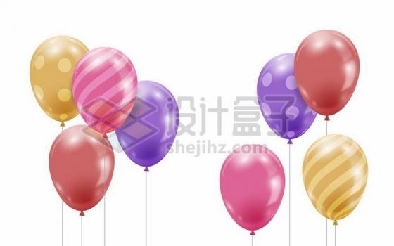 彩色斑点条纹气球装饰png图片免抠矢量素材