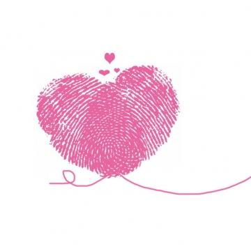 红色心形指纹图案情人节655366png图片素材