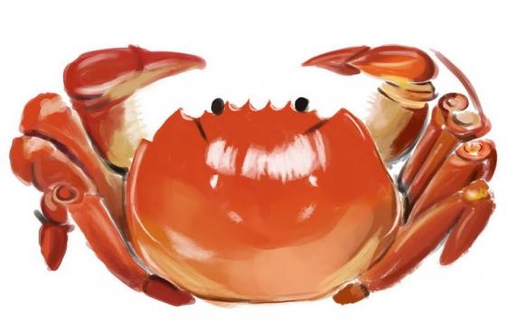 手绘风格美味大闸蟹螃蟹美食图片免抠素材