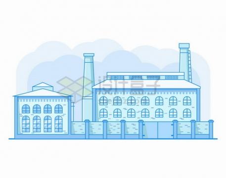 MBE风格蓝色监狱建筑png图片免抠矢量素材