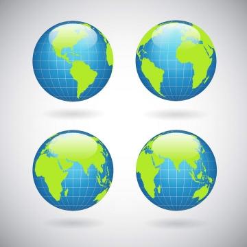 水晶风格带经纬线的地球模型图片免扣素材
