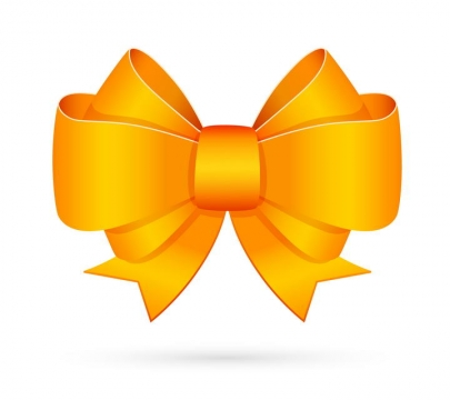 金色蝴蝶结装饰图片免抠素材