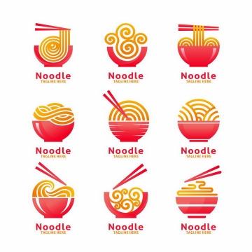 9款面条logo设计方案png图片免抠素材