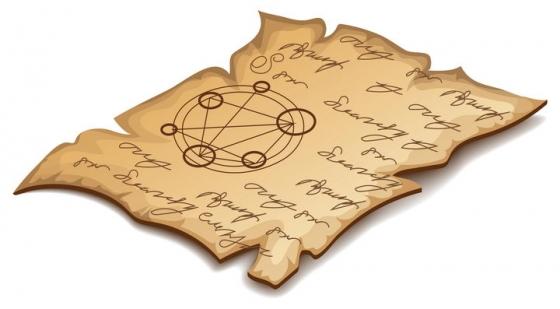立体风格的复古书籍上的纸张免抠矢量图素材
