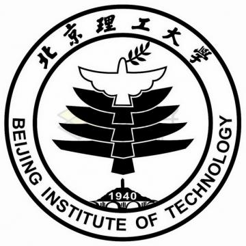 黑色北京理工大学 logo校徽标志png图片素材