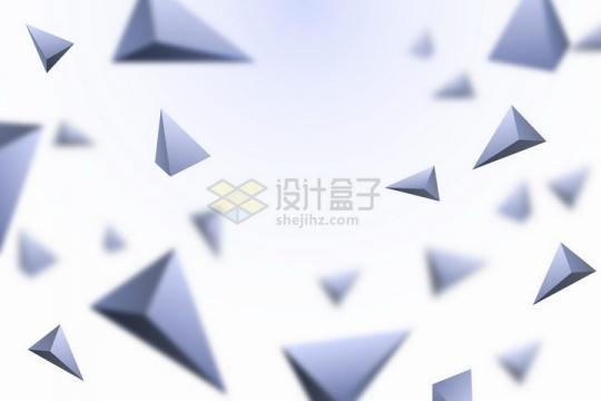 3D立体灰色金字塔形装饰标题背景框png图片免抠矢量素材