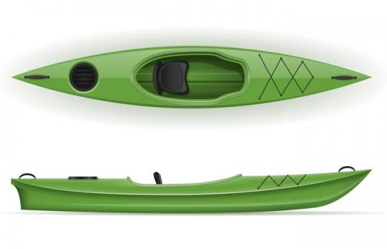 绿色的皮划艇小船免抠矢量图片素材