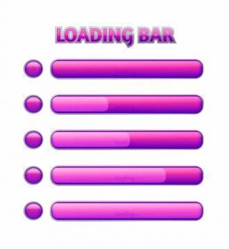 粉红色加载进度条loading画面设计png图片免抠eps矢量素材