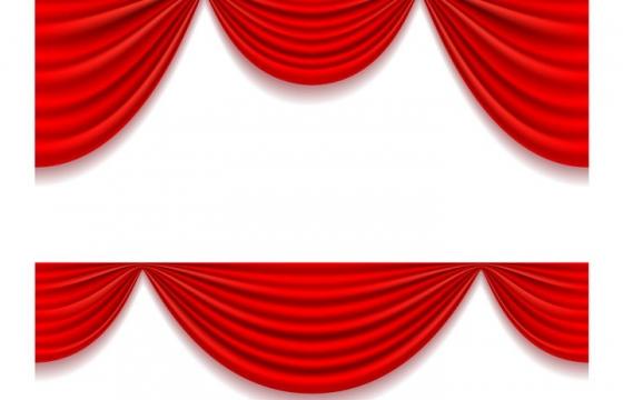 两款红色帷幕红布装饰免抠矢量图片素材