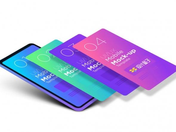 苹果iPhone 12手机界面分层显示展示样机psd样机图片模板素材