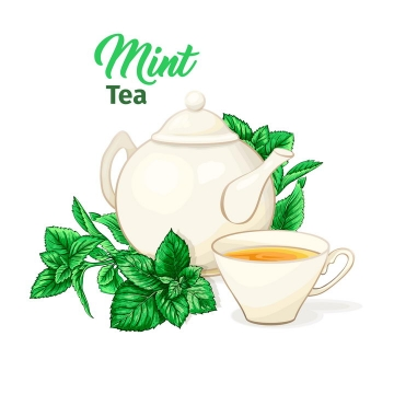 白色的茶壶茶碗喝茶用具图片免抠矢量素材