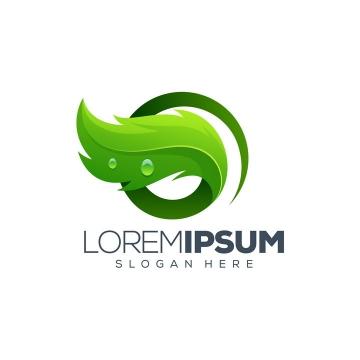 创意绿色树叶环保logo设计方案免抠矢量图素材