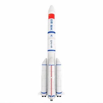 国产长征五号CZ-5号运载火箭透明背景png免抠图片素材