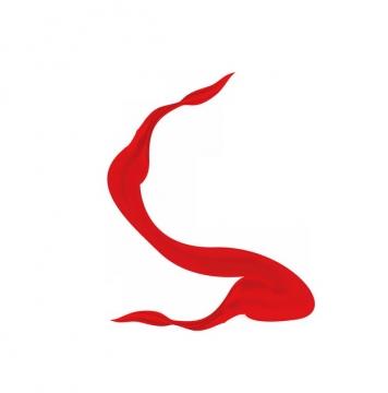 飘舞的红色绸缎丝绸飘带装饰867634png图片素材