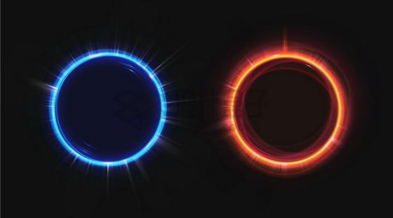 蓝色和红色发光光圈8573904png图片素材