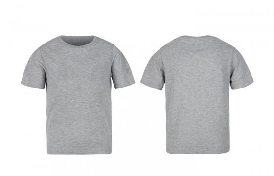 灰色T恤服装正反面图片设计模板素材