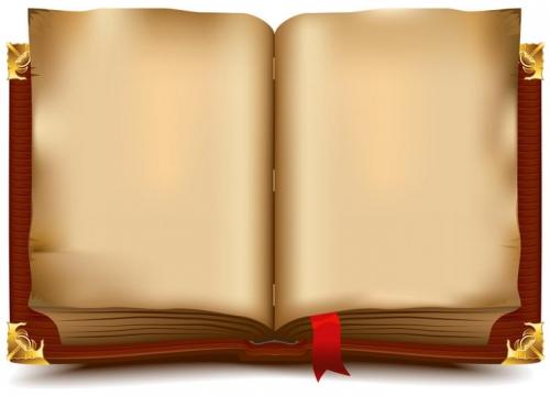 一本复古风格翻开的书籍图片免抠矢量素材