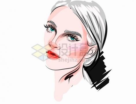 充满时尚魅力的美女化妆美妆彩绘插画png图片素材