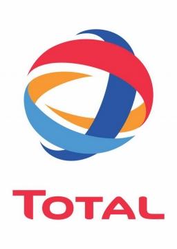 竖版世界500强石油公司道达尔Total企业标志LOGO图标图片免抠素材